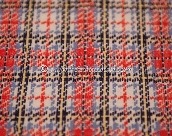 Amazing Bold Plaid - Vintage Fabric Full Feedsack 50s 60s Novelty Holiday Tartan