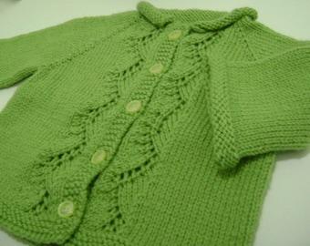Spring Green Cardigan - large
