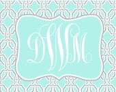 Custom note cards personalized stationery classic  elegant notecards thanks you notes shower gift monogram note cards