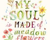 Soul Made of Meadow Flowers  -   vertical print