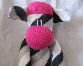 Sockimamy PINK the LONG sock monkey (a)