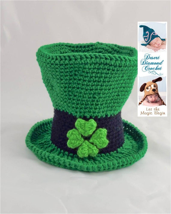 Crochet Pattern 078 - Lucky Leprechaun Hat - All Sizes