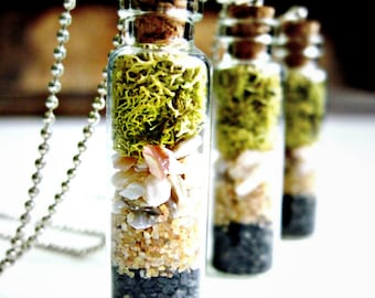 Care Free Terrarium Pendant with Lichen Moss