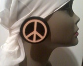 Peace and Leather Stud Earrings