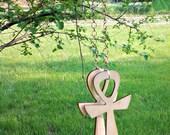 Wood Ankhs w Copper Chain