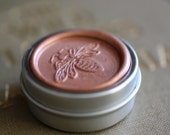 RESERVED for Emily - Rosa Natural Perfume Round Bee Tin - A California woodland fragrance named after the wild rose of the west
