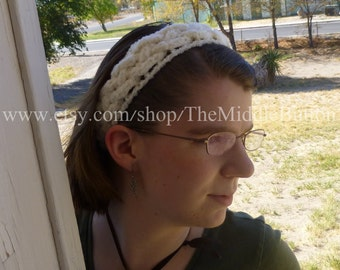 The Josie - Celtic Knot Headwrap - In White