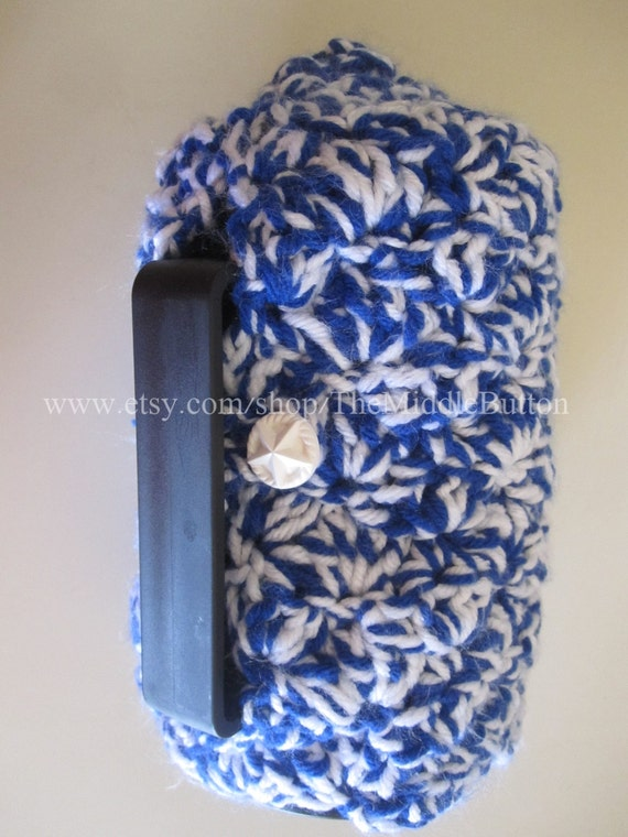 French Press Cozy - Large Size - In Royal Blue and Snow White