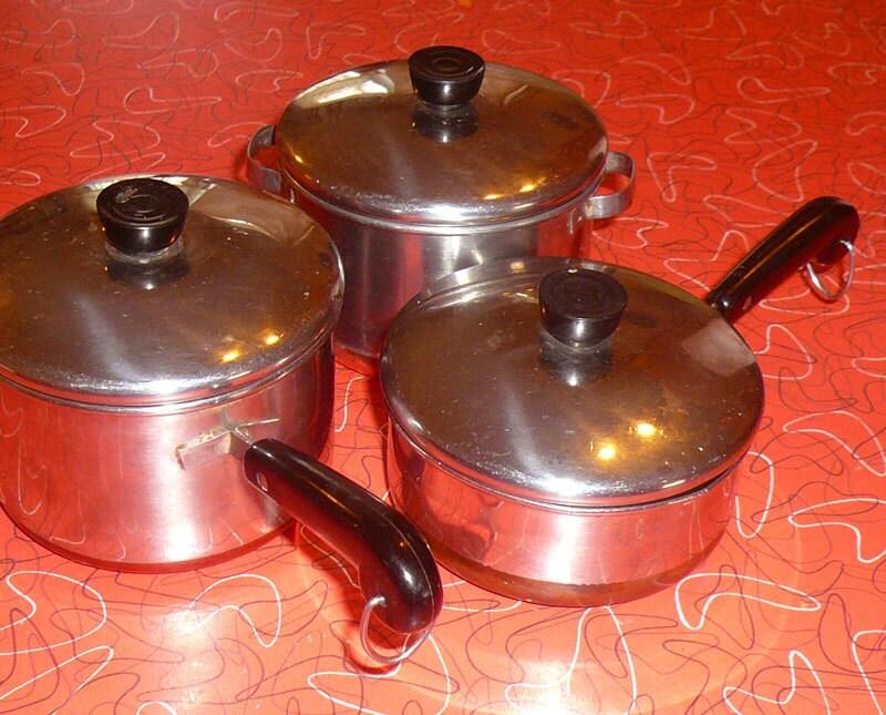 Vintage Revere Ware Child Cookware Set Copper