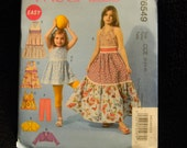 Uncut McCall's Pattern 6549 Size 3-4-5-6 Precious Little Girls Dresses, Jackets, Top and Leggings