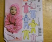 Uncut McCall's Pattern 5963 One Size Infants Buntings, Jacket, Jumpsuit, Pants, Blanket and Hat