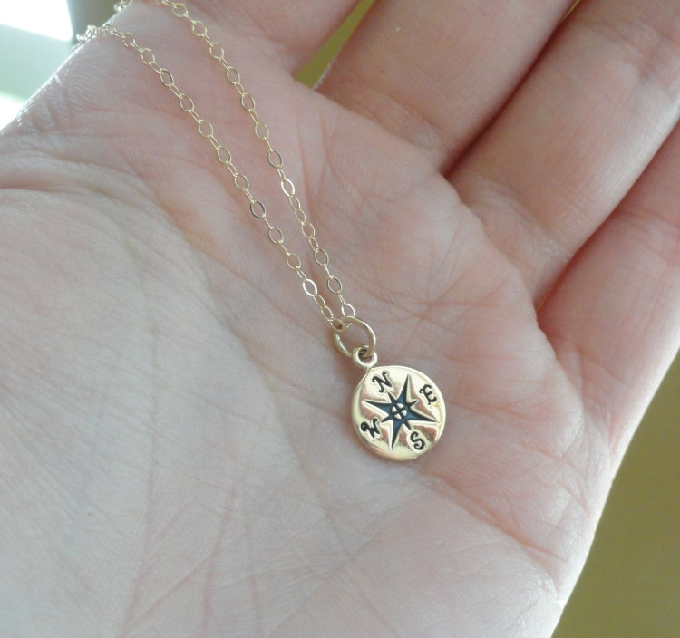compass necklace friendship necklace college by