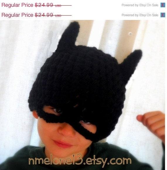Batman hat, crochet batman hat, batman childrens hat, halloween costume batman hat, costume halloween batman