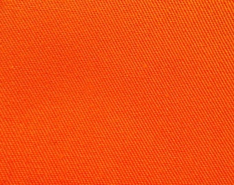 "60"" Wide Orange Multipurpose Polyester Cotton Twill Fabric By the Yard"