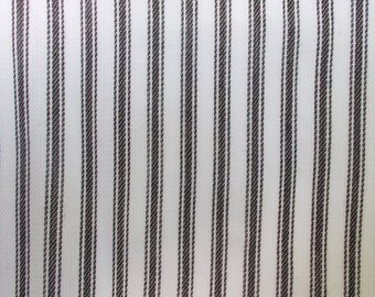 56 Inch Wide Yarn Dyed Cotton Black and White Ticking Stripe Fabric By the Yard Wedding Tablecloth Apparel