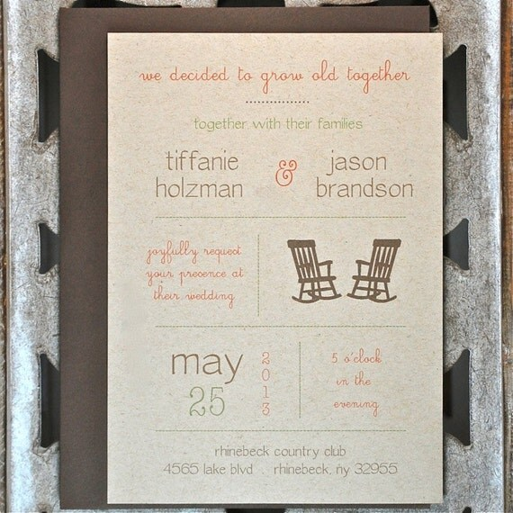 Recycled Wedding Invitations: Recycled Wedding Invitations Wedding By SweetBellaStationery