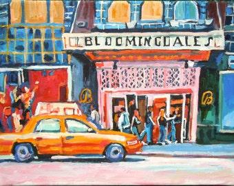 New York Art Bloomingdales NYC Art Wall Decor Shopping Fine Art Print 8x10 11x14 12x16 bloomies Painting White or Black Frame Gwen Meyerson