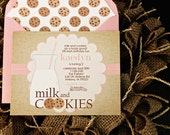 Milk and Cookies Birthday or Shower Invitation