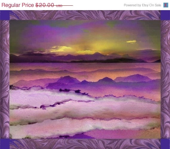Clearance Half Off Comes the Dawn Digital Collage Print