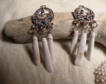 White Sea Urchin Spine Earrings
