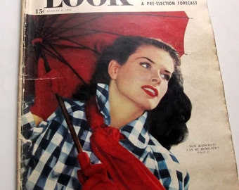 Look Magazine August 31 1948 Summer Vintage Periodical