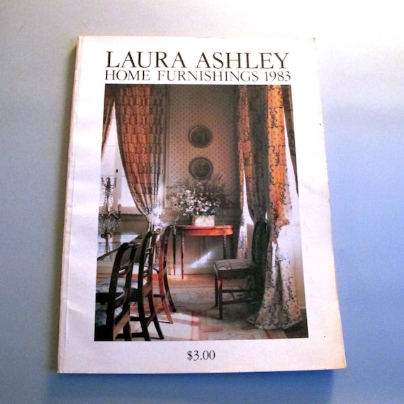 Laura ashley home furnishings catalog 1983 by for Home decor furniture catalog