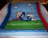 Handmade Linus And Snoopy Baby/Toddler Quilt-Newly Made 2016