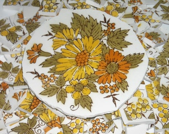 Vintage handcut Tiles from plates for mosaics S20