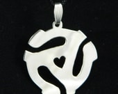 Reserved for Erica Adaptor for 45 Sterling Silver Pendant with Heart Small Version 2