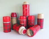 Instant Collection of 8 Lunch Box Size Thermoses from the 1960s and 70s - Tparty