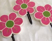 Flower Wall Hangers-Set of 3