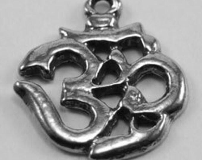 2 x small  Ohm Australian pendant made with Australian pewter 1 bail R164