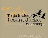 Wall Decals Nursery Hunting Ducks Baby Humor with name 022-33""