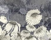 At Night in Iza's Garden II - floral illustration