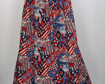 Pioneer Trek Clothing, Patriotic, Betsy Ross Molly Pitcher  Colonial Womans Trek Skirt -  Ready to Ship