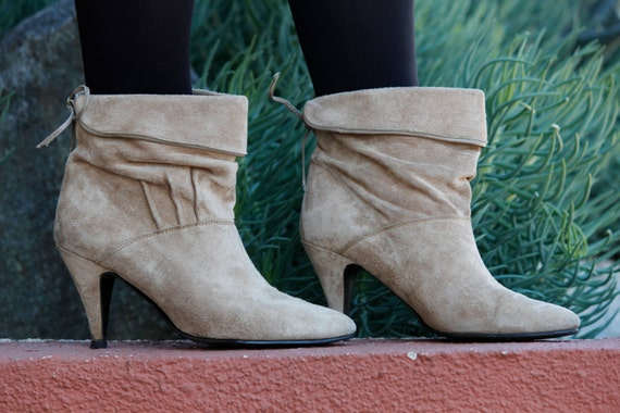 RESERVED FOR ASHLEY Predictions Taupe Suede Booties 7.5/8