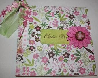 Pretty Baby Girl Scrapbook Album, Mini, Scrapbooking, Premade pages