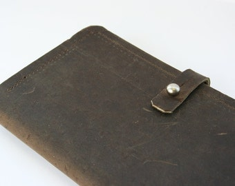 Leather and wool felt wallet or phone case
