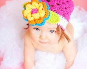2 to 4 Years  ...  COURTNEY Girls Beanie  ...  Toddler Crochet Cotton Yarn Hat  ...  Hot Pink - White  ...  Ready-to-Ship