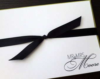 mr & mrs personalized notecards