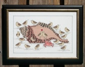 Beach Serenade -  Sandpipers, crab and seashell Cross Stitch Pattern