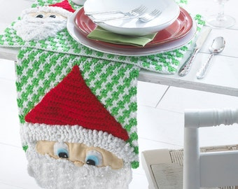 Santa Table Runner And Placemats Crochet Pattern PDF