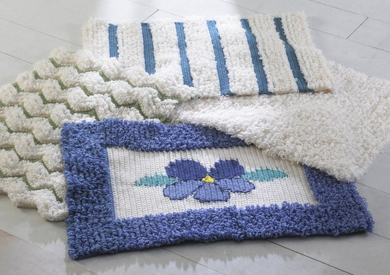 Crochet Patterns Loop Stitch : Loop Stitch Rugs Crochet Pattern PDF