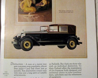 1926 Packard Auto Ad At the Opera 1920s fashion Car of Distinction