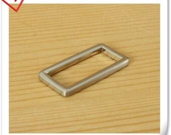 1 1/2 (1.5 ) inch alloying rectangular rings hangbag supples  Nickel hand polished finish 10pcs U128
