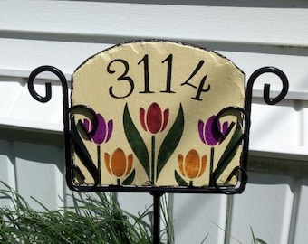 Personalized handpainted slates and holders