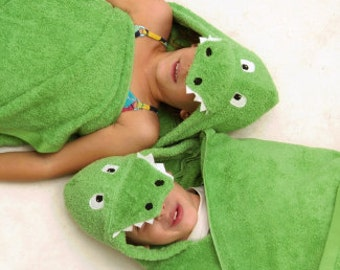 Personalized Yikes Twins Alligator hooded towel