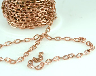 Copper Chain 7mm x 2mm link 2 feet  CPCH001