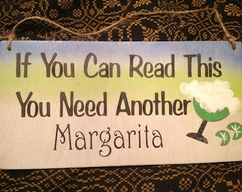 Bar sign, margarita sign, funny sign, Margaritaville