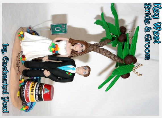 key west wedding cake toppers key west tropical wedding cake topper 16637